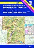 Wassersport-Wanderkarte Nr. 3, Deutschland Südwest