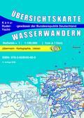 Titelblatt der Übersichtskarte Wasserwandern Deutschland