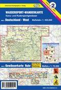 Titelblatt der Wassersport-Wanderkarte WW2 - Deutschland West