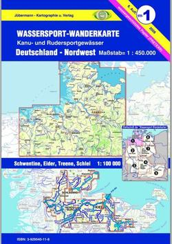 Titelblatt der Wassersport-Wanderkarte WW1 - Deutschland Nordwest