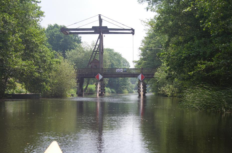 Spree Holz-Klappbrücke Briescht