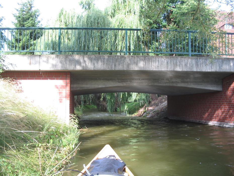 Mildenitz, Straßenbrücke in Goldberg