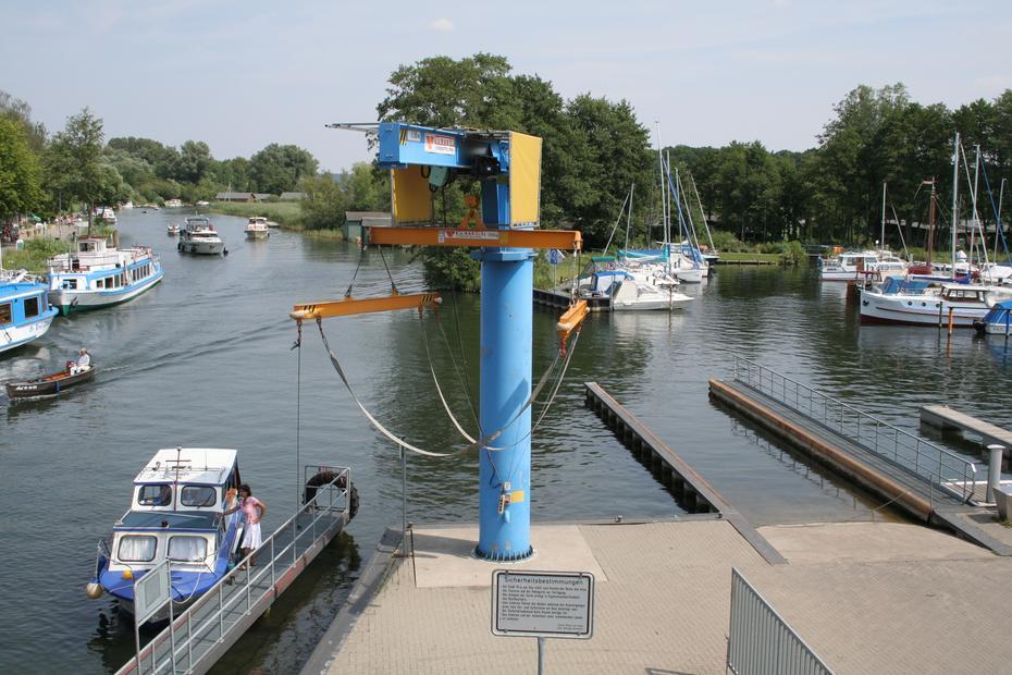 Hafen in Plau, Müritz-Elde-Wasserstraße