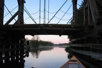 Trebel: Hölzerne Klappbrücke in Nehringen