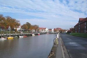 Tönning, Hafen bei Ebbe