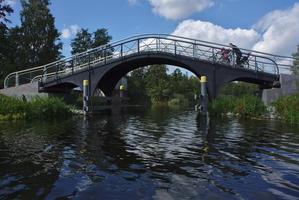 Havel in Zehdenick, Kamelbrücke für den Treidelweg