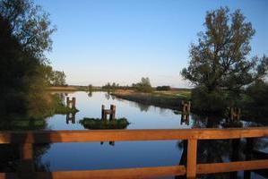 Trebel: Blick von der Klappbrücke in Nehringen