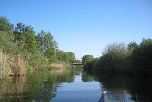 Uckerkanal vor Brücke Seehausen