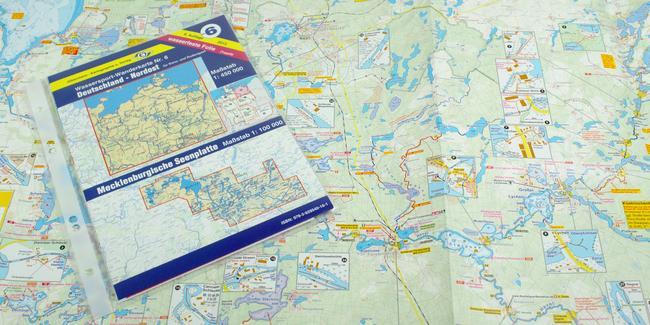 Wasserwandern Mecklenburgische Seenplatte Karte.Wassersport Wanderkarte Ww6
